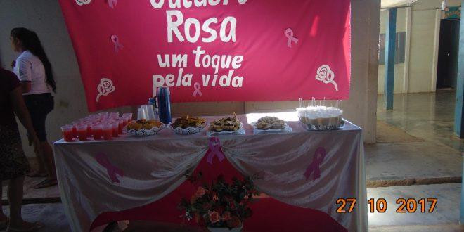 Outubro Rosa realizado na cidade de Combinado-Tocantins